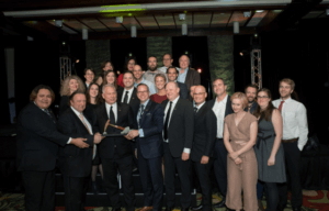 Recognition_2017SD_10_Discovery of the Year award for the Lynx deposit – The Osisko team at the annual XPLOR Gala with our special guest, Ms. Mandy G@2x
